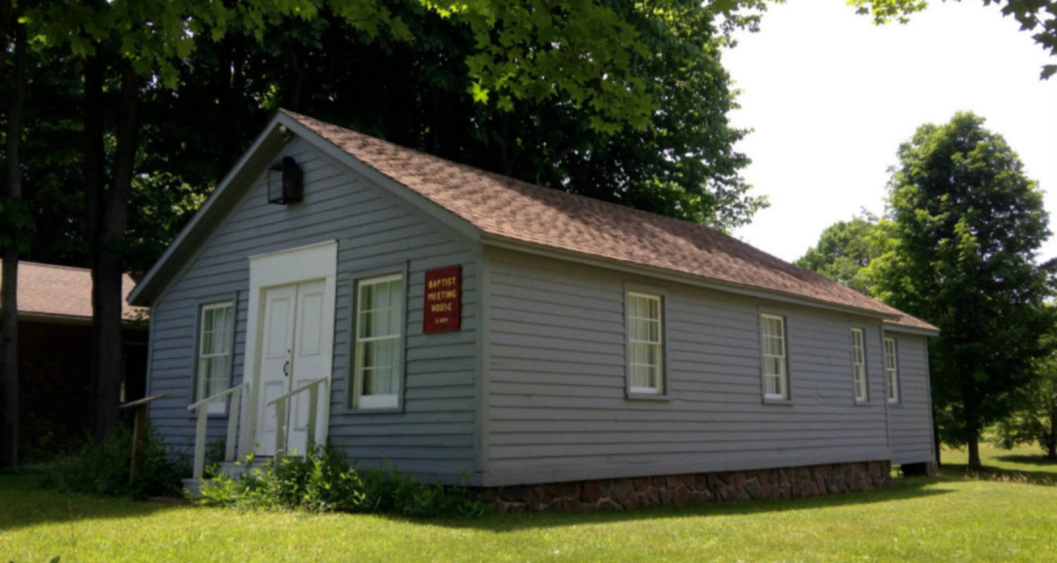 Baptist Meeting House at Heritage Square Museum in Ontario, NY - Featured Image
