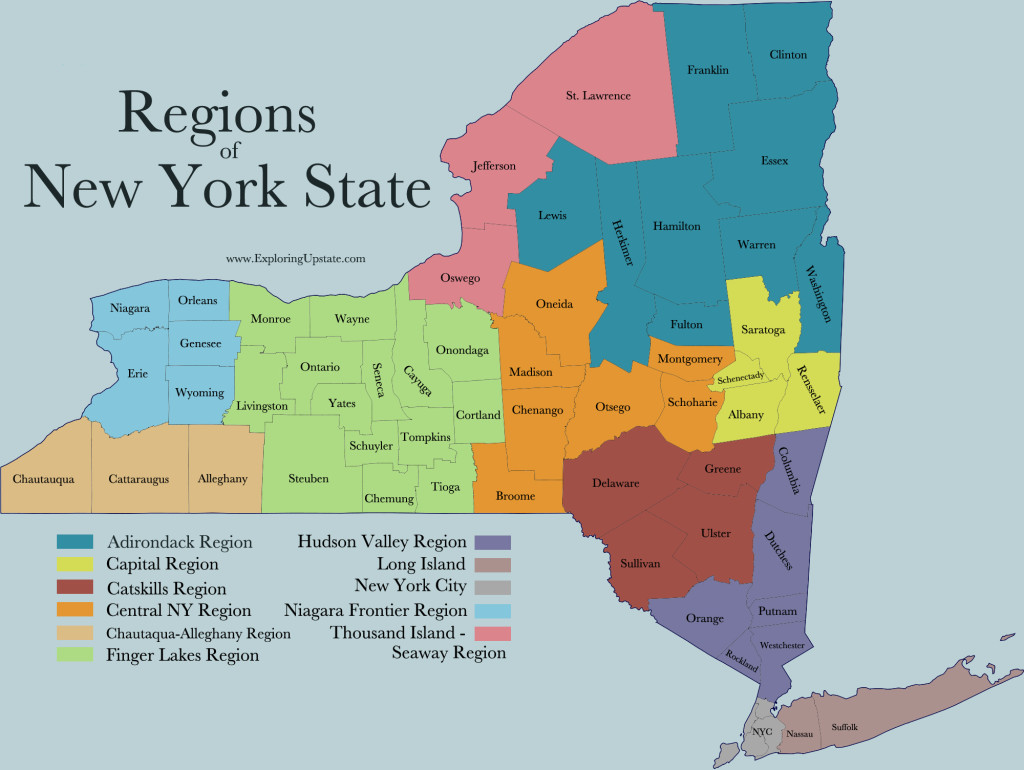 About - Upstate new york map