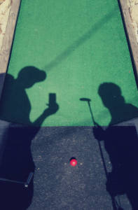 Golfer Shadows at Whispering Pines Mini Golf; Rochester, NY