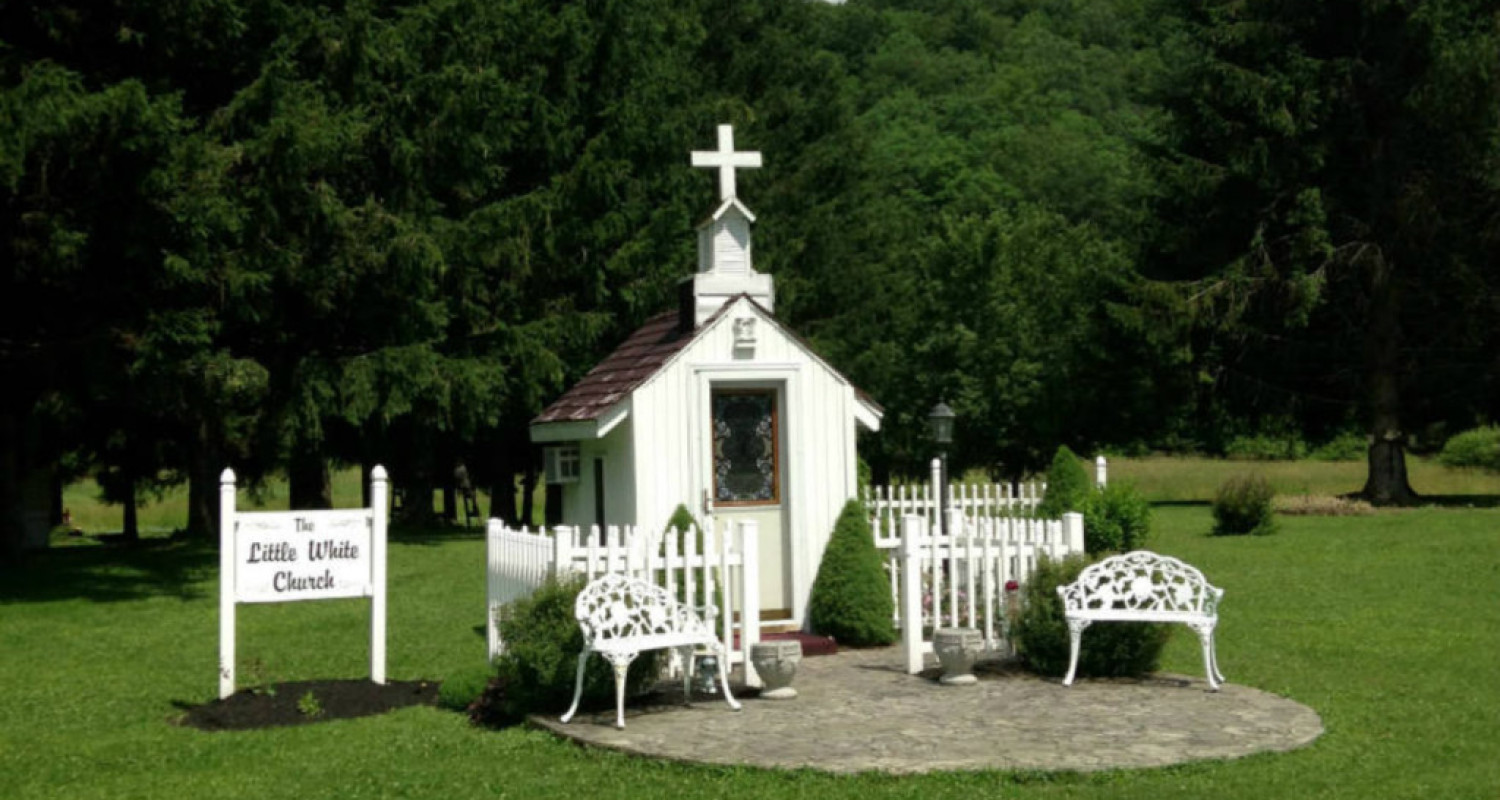 The Little White Church in Great Valley, NY - Featured Image