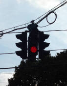 Upside Down Traffic Signal in Tipperary Hill - Syracuse, NY