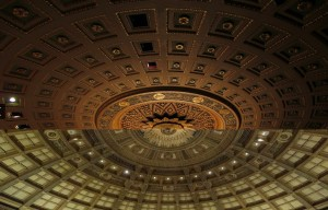 Comparison of ceiling in Rochester Lyric Opera House and Eastman Theatre in Rochester, NY