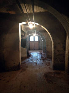 This is a photo of the basement in the Grandview Building of the Willard Asylum