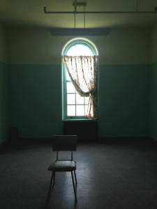 Single Chair in a Room within the Grandview Building at the Willard Asylum near Seneca Lake