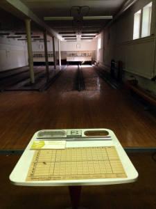 Bowling Alley in Basement of Hadley Hall at the Willard Asylum