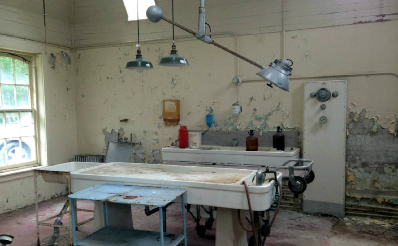 An inside tour of 39 willard asylum for the chronic insane Embalming room design