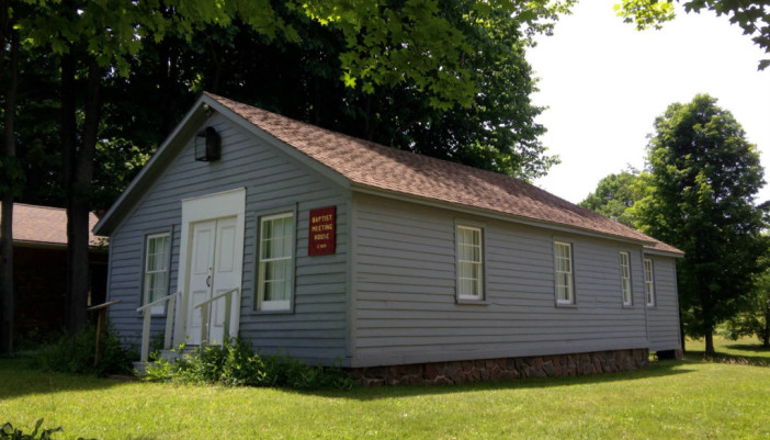 Baptist Meeting House in Heritage Square Museum in Ontario