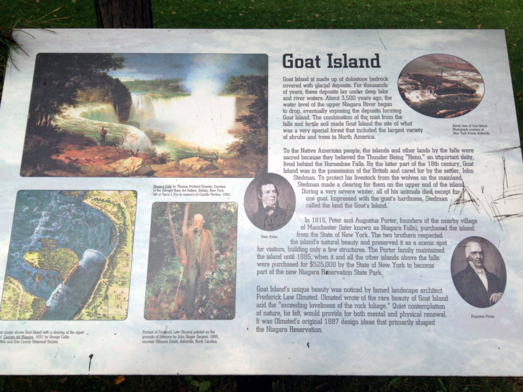 Sign At Goat's Island New York