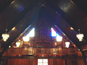 Choir Loft inside the Mt. Erie Baptist Church in Niagara Falls, New York