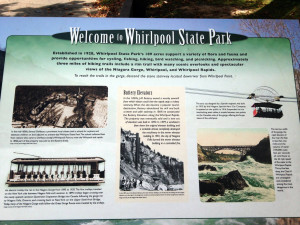 Sign at Whirlpool State Park in New York