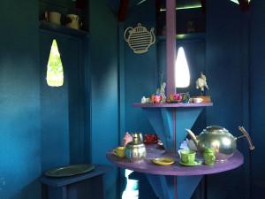 Inside the Tea Room Treehouse in Geneseo