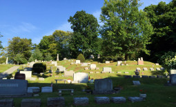 Terraces in Mt. Albion Cemetery in Orleans County