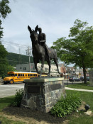 Statue Outside of West Point New York