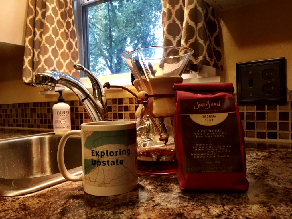 Joe Bean Coffee and Exploring Upstate Mug with Chemex
