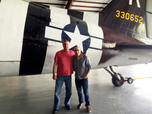 Chris Clemens and Dad at Geneseo Warplane Museum