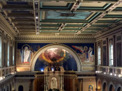 Murals in St. Luke's Mission in Buffalo, New York