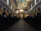 Nave and Center Aisle in St. Luke's Mission in Buffalo, New York