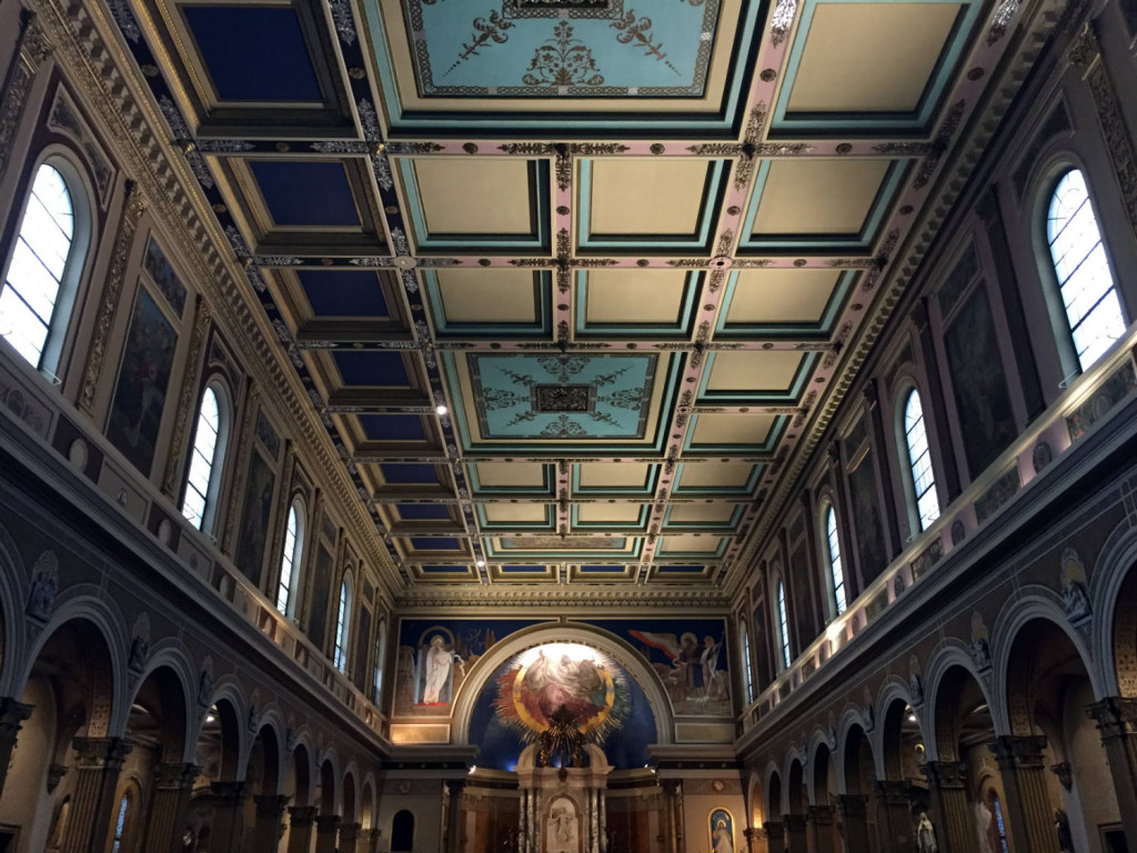 Ceiling in St. Luke's Mission in Buffalo, New York