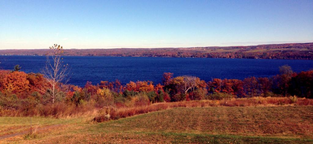 Seneca Lake in Autumn in Upstate New York