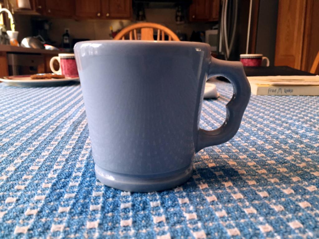 Cobalt Victor Coffee Mug with Two Finger Handle