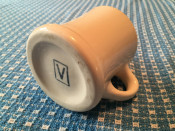 Bottom of Rare Victor Coffee Mug with Pedestal in White