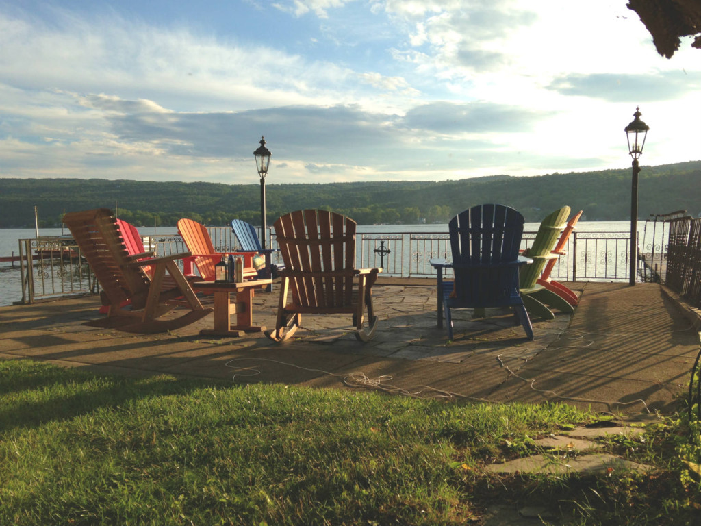 Chairs on Honeoye Lake