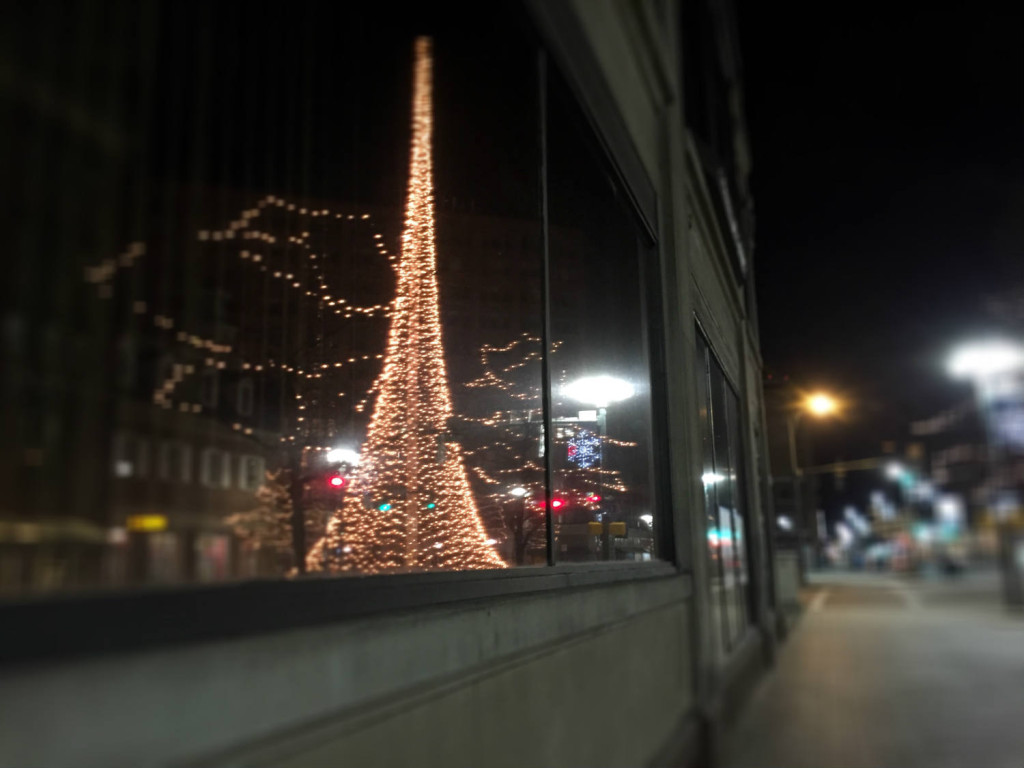 Liberty Pole Reflection in Rochester, New York
