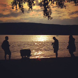 People on Honeoye Lake