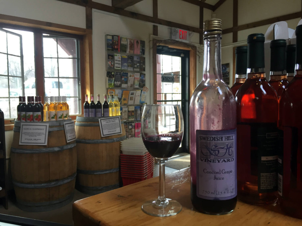 Concord Grape Juice at Swedish Hill Winery in Romulus, New York