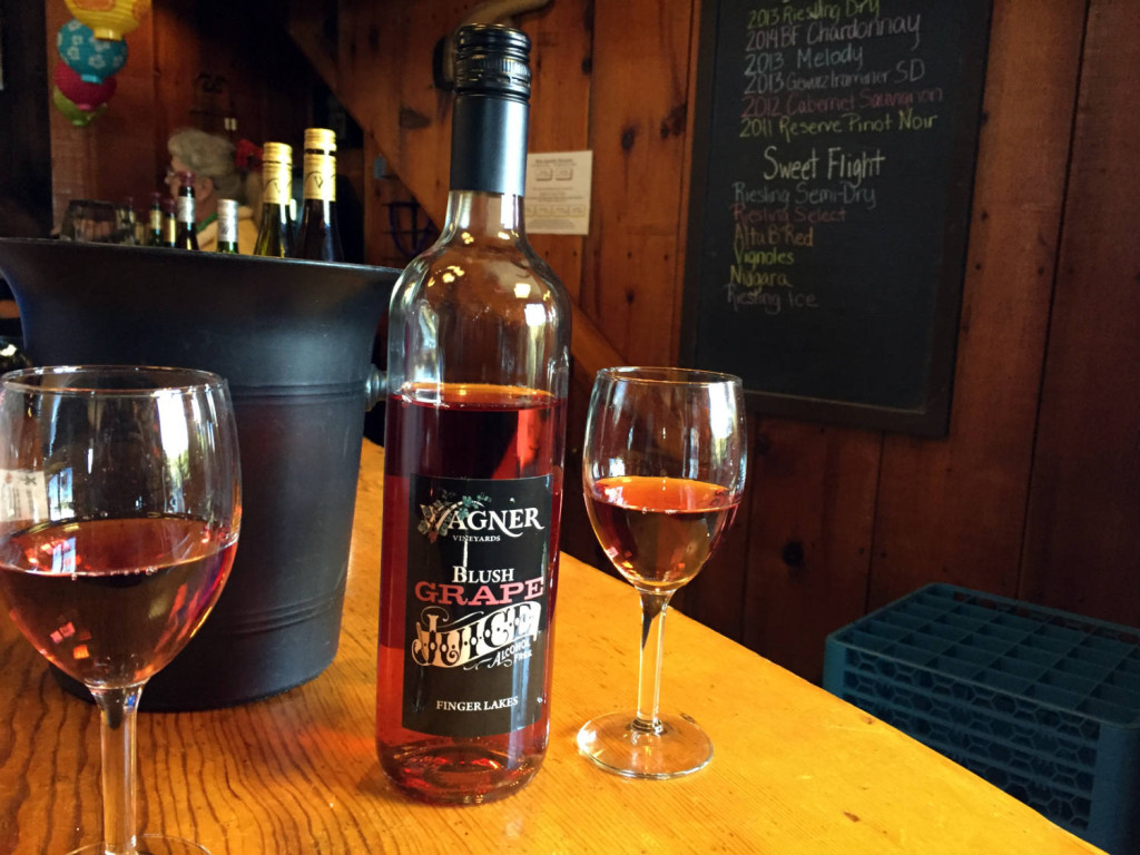 Blush Grape Juice at Wagner Winery in Lodi, New York