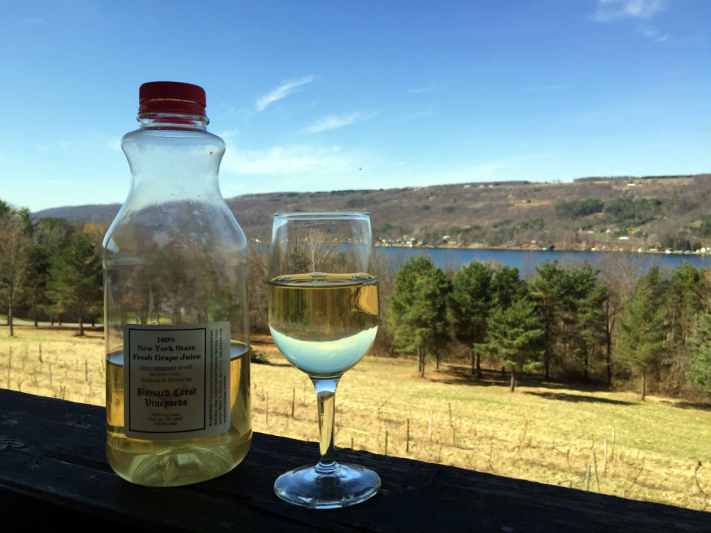 White Grape Juice at Barrington Cellars Winery in Penn Yan, New York