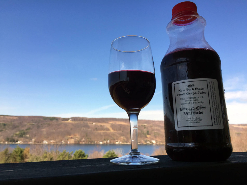 Red Grape Juice at Barrington Cellars Winery in Penn Yan, New York