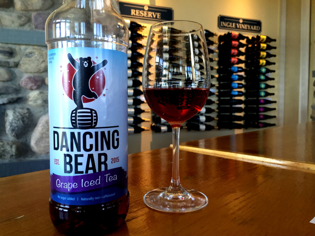Dancing Bear Grape Iced Tea at Heron Hill Winery in Hammondsport, New York