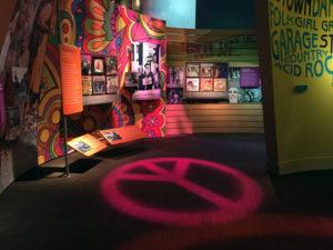 Peace Symbol Exhibit at the Woodstock Museum at Bethel Woods