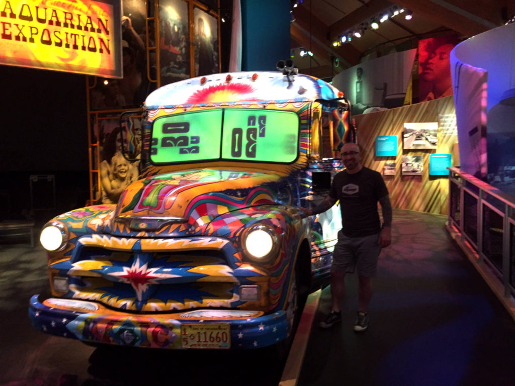 Chris Clemens and Painted Bus Exhibit at the Woodstock Museum at Bethel Woods