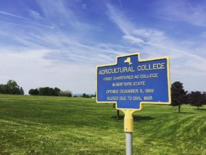 Agricultural College Historical Marker in Ovid, New York
