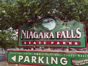 Niagara Falls State Park Sign in New York