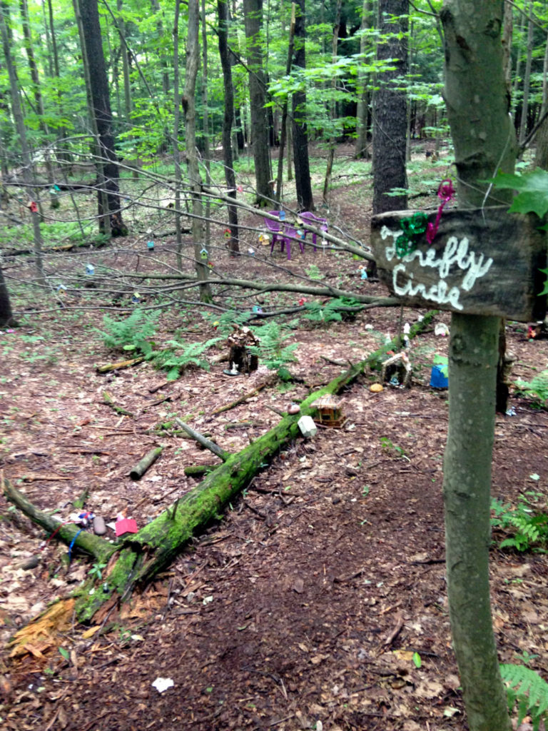 Firefly Circle in the Fairy Trail at Lily Dale, New York