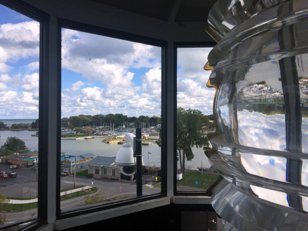 View from the Charlotte-Genesee Lighthouse Tower in Rochester, New York