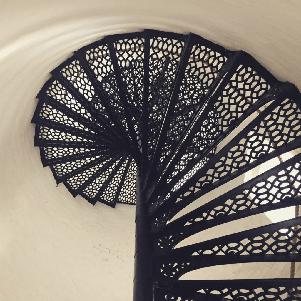 Spiral Staircase in Charlotte-Genesee Lighthouse in Rochester, New York