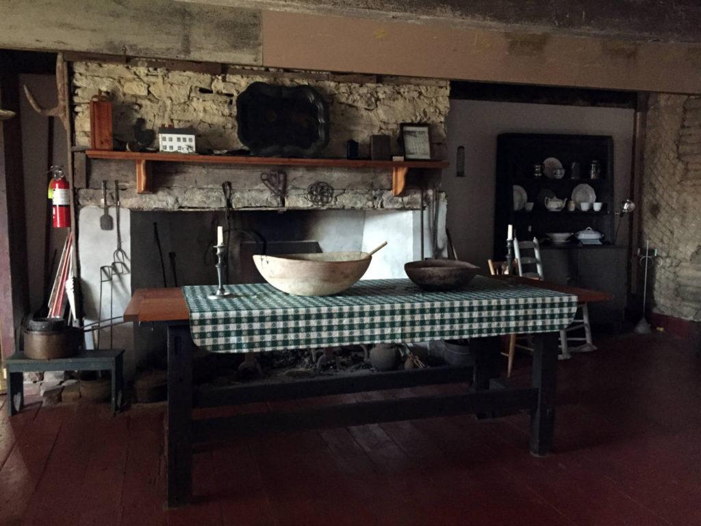 Kitchen Inside the The 1747 Nellis Tavern in St. Johnsville, New York