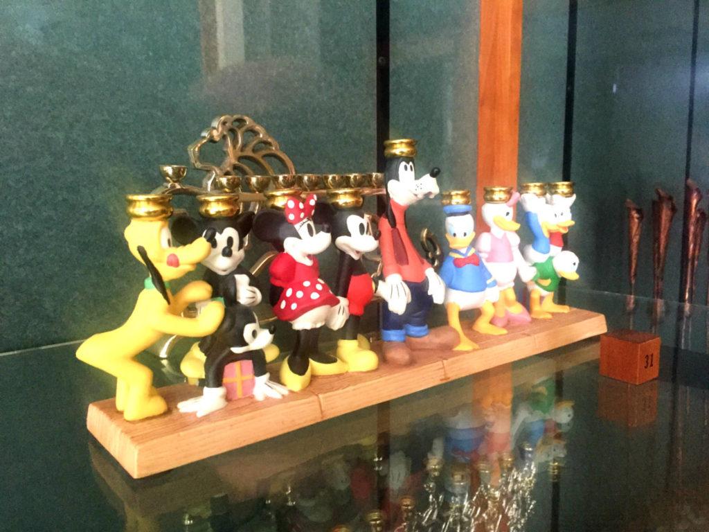 Disney Menorah at Temple B'rith Kodesh in Brighton, New York