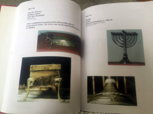 Lewis Menorah Collection Book at Temple B'rith Kodesh in Brighton, New York