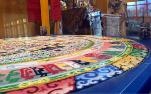 Sand Mandala in Namgyal Monastery in Ithaca, New York