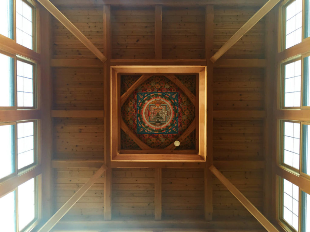 Ceiling Mandala in Namgyal Monastery in Ithaca, New York