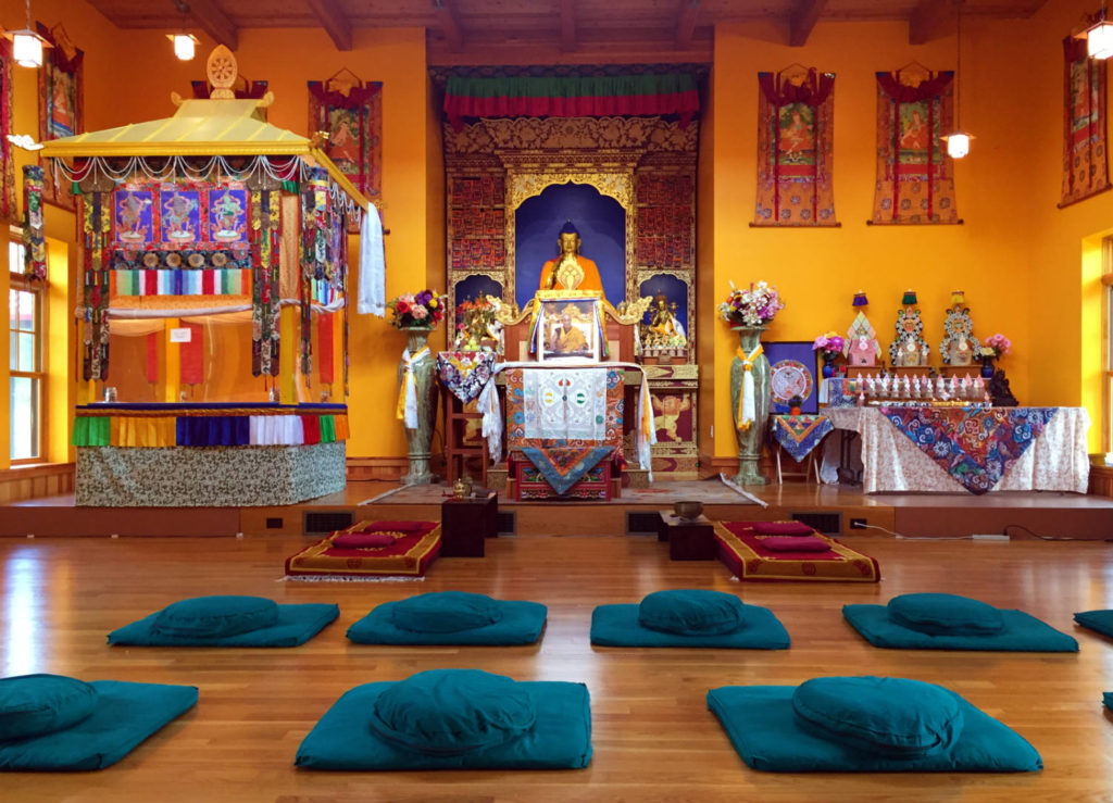 Temple Shrine at Namgyal Monastery in Ithaca, New York