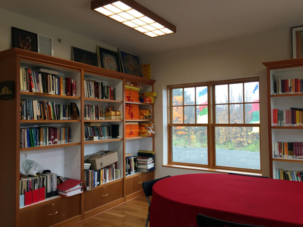 Library and Study at Namgyal Monastery in Ithaca, New York