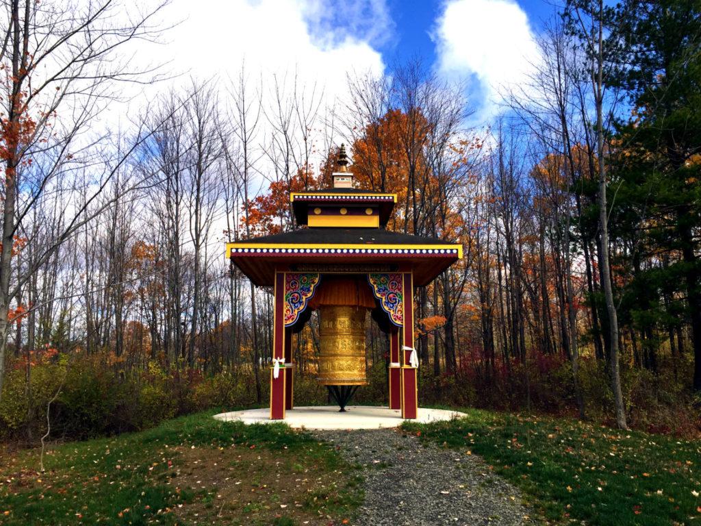 Prayer Wheel at Namgyal Monastery in Ithaca, New York