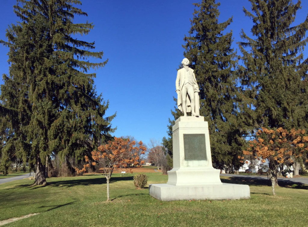Statue of Sir William Johnson in Johnstown, New York