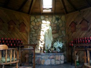 Candle Shrine to Blessed Kateri Tekakwitha in Fonda, New York